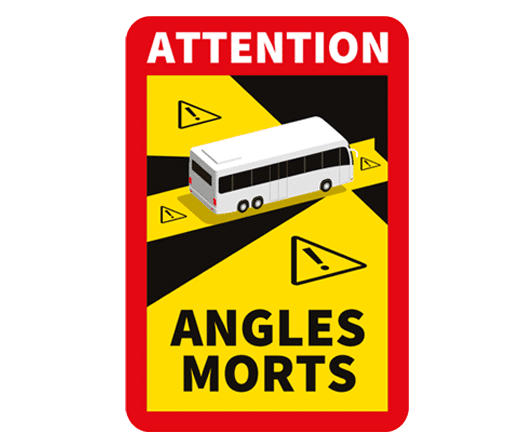 """Angles Morts """"toter Winkel"""" Set 3 Aufkleber"""